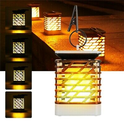 Solaire Powered 75 LED Flame Effect Hanging Lantern Light Outdoor Waterproof