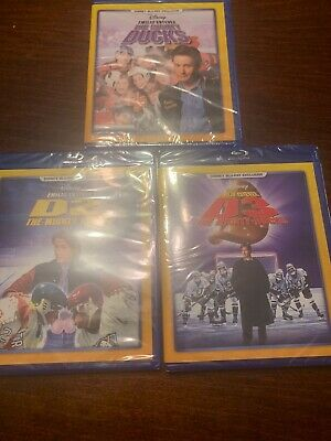 The Mighty Ducks Trilogy D1 D2 D3 (Blu-ray, 2017) DMC Disney Club Exclusive RARE