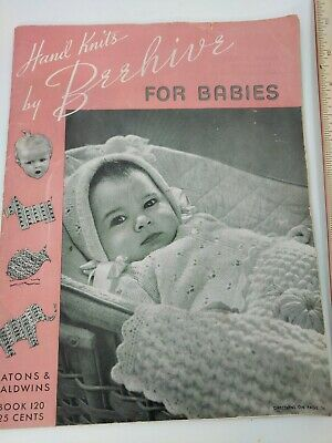 Vintage 1941 Beehive Knitting Pattern Book - Hand Knits By Beehive For Babies