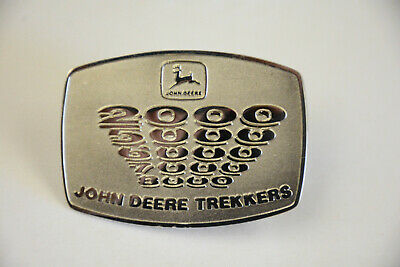 1990s JD JOHN DEERE SOUTH AFRICA TRACTOR BELT BUCKLE 2000-8000 SERIES TREKKERS