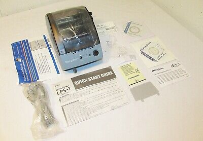 New (open box) Pitney Bowes LPS-1 Label Printer + CD + Power Supply NO LABELS