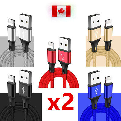 2x 8pin Data Sync Charger Cable for iPad iPhone X Xs Max Xr 8 8Plus 7 6s 6 5 SE