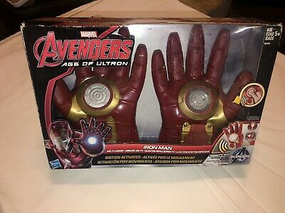 Marvel Avengers Age of Ultron Iron Man Arc FX Armor Gloves New, With damaged box