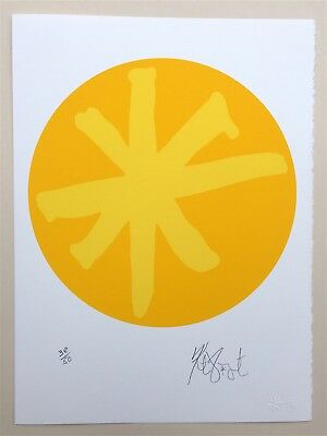 "KURT VONNEGUT ""Yellow Portal"" - Signed Limited Edition Print #38/50  - Asterisk"