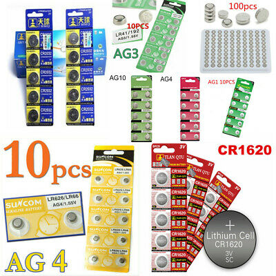 5/10/100PCS Alkaline AG4 AG3 Cell Battery CR2032 Coin Button Batteries Portable