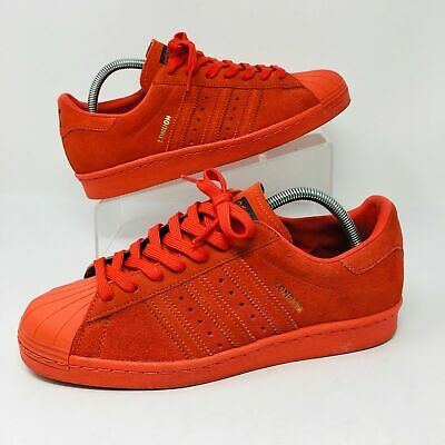 on sale 54705 ef599 Adidas Originals Superstar 80s City (Mens Size 8) London Athletic Shoes Red  Gold