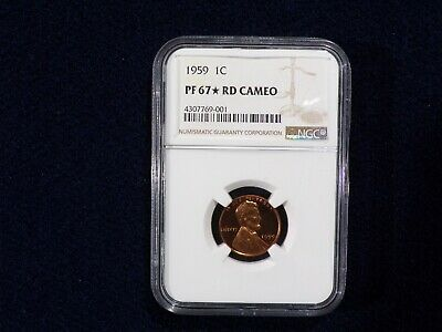 1959 P Lincoln Memorial Cent 1C Ngc Certified Pf 67 Star Rd Cameo