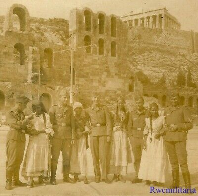 Port. Photo: TOURISTES! Luftwaffe Soldiers w/ Greek Girl by AKROPOLIS, ATHENS!!!