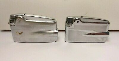 2 Accendini Ronson Varaflame-Lighters-Mecheros-Briquet-Feuerzeug-Old Vintage
