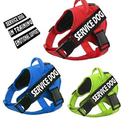 Service Dog No-Pull Harness Reflective Pet Puppy Control Vest Handle & Patches