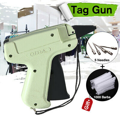 Tagging Lable Gun + 5 Steel Needles +1000 Kimble Price  System Barbs for Clothes