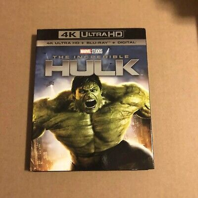 The Incredible Hulk (4K UHD, Blu-ray, NO Digital) Includes Slipcover!