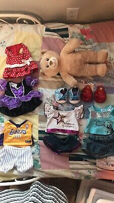 lot of BAB Build A Bear Plush Bear Plus 4 Outfits Lakers Basketball 2 shoes