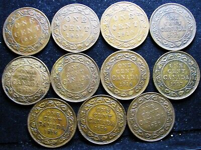 Canadian Canada Large Cent Lot 1903-1920 11 Coins Higher Grade NICE ---- LOT #4