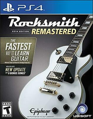 Rocksmith 2014 Edition Remastered With Real Tone Cable PS4 Version New