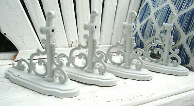 Four Vtg Mid Century Ornate French Scrolly Wall Sconces - Architectural Salvage