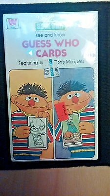 "Vtg Sesame Street 1978 Guess Who Cards Jim Hensons Muppets 3-1/2"" x 5-3/4"" Seale"