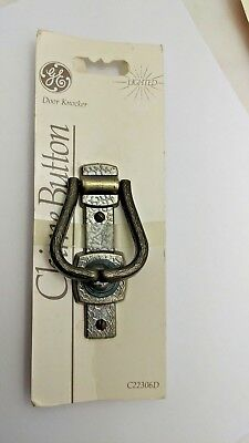 Nos Vintage 1985 GE Lighted Door Bell Button C22306D door Knocker 3.5