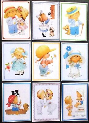 CUTE KIDS ASSORTED CARD TOPPERS x 9 WILL MAKE NICE CARDS FOR EVERYONE