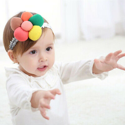 Baby Cute Shower Girls Kids Color Flower Sepuins Party Headband Hair Band LG