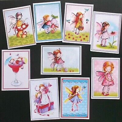 MIXED FAIRIES CARD TOPPERS x 9 FOR THE YOUNG AT HEART - A LOVELY SELECTION