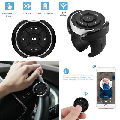 Wireless Bluetooth Media Steering Wheel Remote Control Mp3 Music Player Portable
