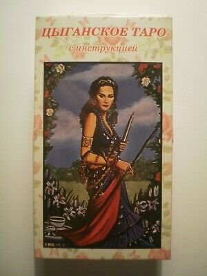 New Gypsy Tarot Oracle 78 Cards Deck in Russian + manual Цыганское Таро карты