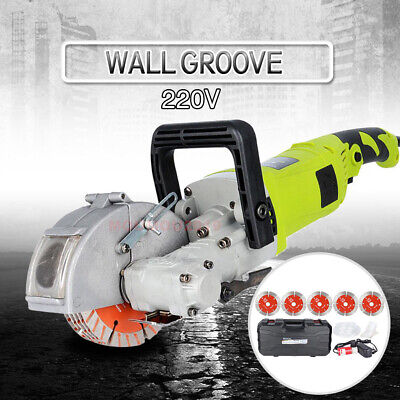 220V Electric Wall Chaser Groove Cutting Machine Slotting Steel Concrete Cutting