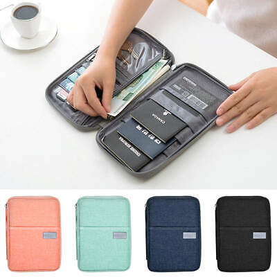 Travel Wallet & Family Passport Holder w/ RFID Blocking Document Organizer Case
