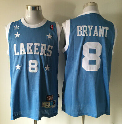 d9a0a512e92 NEW Los Angeles Lakers #8 Kobe Bryant Throwback Swingman Basketball Jersey  Blue