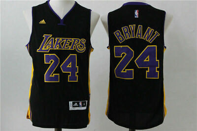 cheap for discount f60a8 1b328 HOT Los Angeles Lakers  24 Kobe Bryant Basketball Jersey Black Size S-XXL