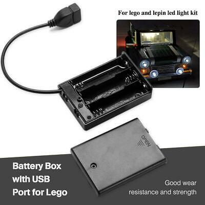 Lighting USB For LEGO Battery With Port Kit Bricks Box Sets Led Light New