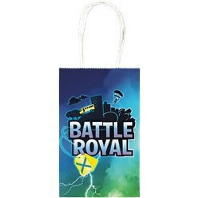 Battle Royal Paper Party Loot Bags With Handles Pack of 8