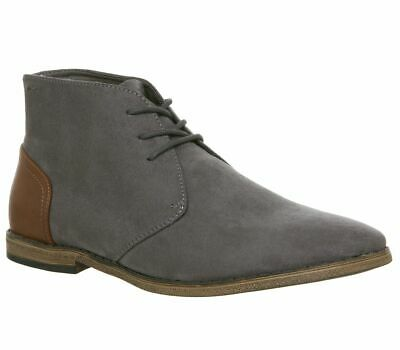 Mens Office Grey Synthetic Pull On Ankle Boots Size UK 8 *Ex-Display