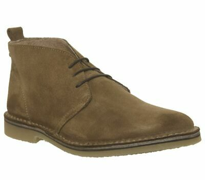Mens Office Brown Suede Lace Up Ankle Boots Size UK 12 *Ex-Display