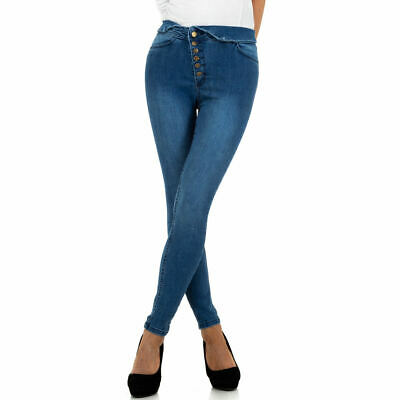 HIGH WAIST SKINNY DAMEN JEANS 42/XL Blau 8142