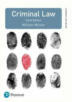 Criminal Law by William Wilson 9781292129051 | Brand New | Free UK Shipping