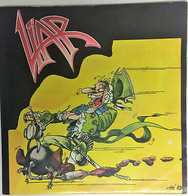 """LIAR """" It hurts / See you again """" 1989  single 7"""" red  vinyl"""