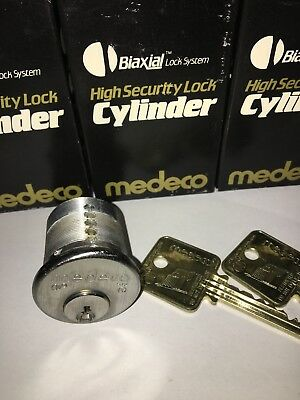 New Medeco Mortise Cylinder Lock, Biaxial High Security. 2 Keys