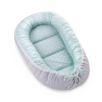 Baby Nest Bed Newborn Pod Sleeping Baby Bed Double-Sided High-Quality Mint Dotty