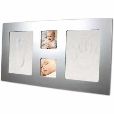 Xplorys Happy Hands Luxury Large Frame Hand and Foot Impression Print Kit Silver
