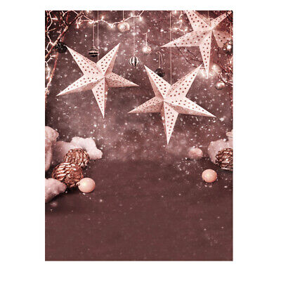 Andoer 1.5 * 2m Photography Background Backdrop Christmas Gift Star Pattern W2H9