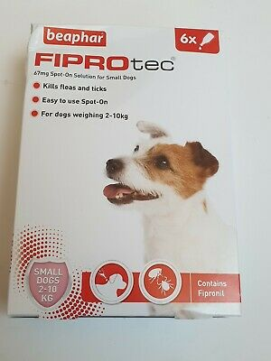 Beaphar FIPROtec Spot-On For small  Dogs  - Flea and Tick Treatment 6 Pack