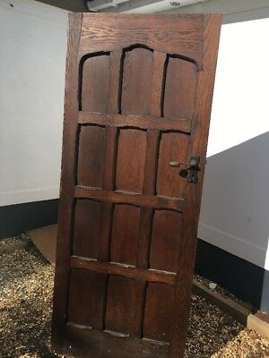 Solid Oak Front Door Period Wood Reclaimed Rustic Antique Old Wood Forged Iron