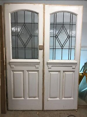ART DECO FRONT DOORS ANTIQUE PERIOD OLD RECLAIMED LEAD WOOD PINE FRENCH 20s 30s