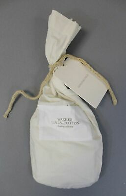RHBaby&Child Washed Linen-Cotton Blend Toddler Pillowcase AB4 Ivory NWT
