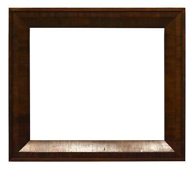 """ANTIQUE 1850 MAHOGANY VENEER SULLY GOLD PICTURE FRAME 20"""" x 24"""""""