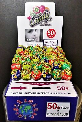 25 New Vending Route Display Honor Boxes Sells Candy & Lollipop Donation Charity