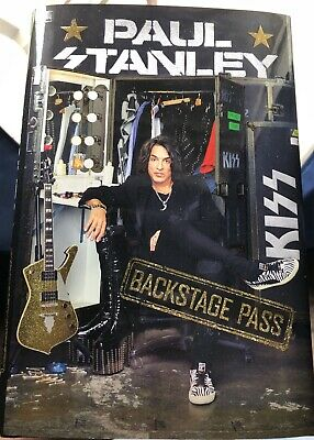 Kiss Paul Stanley Signed Autographed Backstage Book