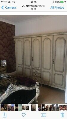 🌺Antique Louis Xv French Style Armoire 5 Door Wardrobe 🌺